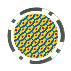 Images Album Heart Frame Star Yellow Blue Red Poker Chip Card Guard (10 pack)
