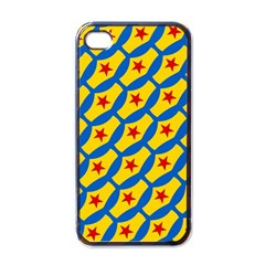 Images Album Heart Frame Star Yellow Blue Red Apple iPhone 4 Case (Black)