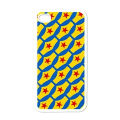 Images Album Heart Frame Star Yellow Blue Red Apple iPhone 4 Case (White)