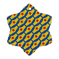 Images Album Heart Frame Star Yellow Blue Red Snowflake Ornament (Two Sides)