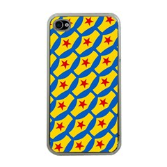Images Album Heart Frame Star Yellow Blue Red Apple iPhone 4 Case (Clear)