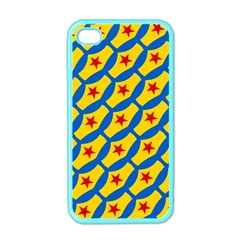 Images Album Heart Frame Star Yellow Blue Red Apple iPhone 4 Case (Color)