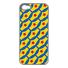 Images Album Heart Frame Star Yellow Blue Red Apple iPhone 5 Case (Silver)