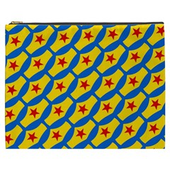 Images Album Heart Frame Star Yellow Blue Red Cosmetic Bag (XXXL)