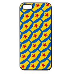 Images Album Heart Frame Star Yellow Blue Red Apple iPhone 5 Seamless Case (Black)