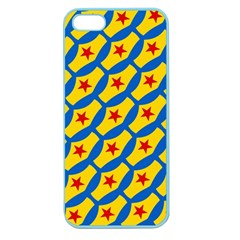 Images Album Heart Frame Star Yellow Blue Red Apple Seamless iPhone 5 Case (Color)