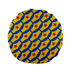 Images Album Heart Frame Star Yellow Blue Red Standard 15  Premium Round Cushions
