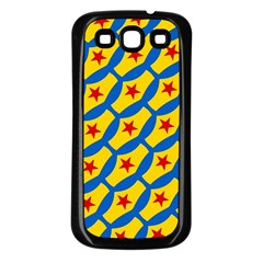 Images Album Heart Frame Star Yellow Blue Red Samsung Galaxy S3 Back Case (Black)