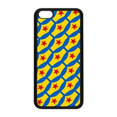 Images Album Heart Frame Star Yellow Blue Red Apple iPhone 5C Seamless Case (Black)