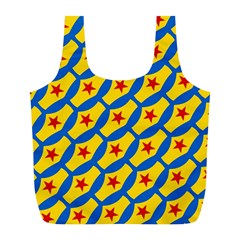 Images Album Heart Frame Star Yellow Blue Red Full Print Recycle Bags (L)
