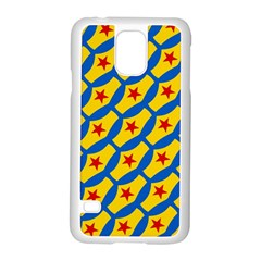 Images Album Heart Frame Star Yellow Blue Red Samsung Galaxy S5 Case (White)