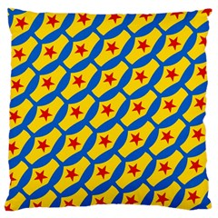 Images Album Heart Frame Star Yellow Blue Red Large Flano Cushion Case (Two Sides)