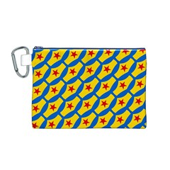 Images Album Heart Frame Star Yellow Blue Red Canvas Cosmetic Bag (M)