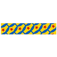 Images Album Heart Frame Star Yellow Blue Red Flano Scarf (Small)
