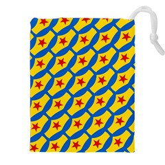 Images Album Heart Frame Star Yellow Blue Red Drawstring Pouches (XXL)