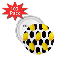 Orange Lime Fruit Yellow Hole 1.75  Buttons (100 pack)