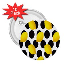 Orange Lime Fruit Yellow Hole 2.25  Buttons (10 pack)