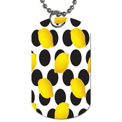 Orange Lime Fruit Yellow Hole Dog Tag (Two Sides)