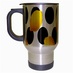 Orange Lime Fruit Yellow Hole Travel Mug (Silver Gray)