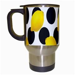 Orange Lime Fruit Yellow Hole Travel Mugs (White)