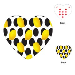 Orange Lime Fruit Yellow Hole Playing Cards (Heart)