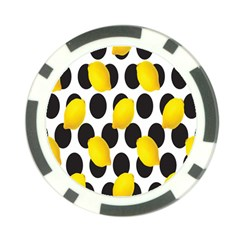 Orange Lime Fruit Yellow Hole Poker Chip Card Guard