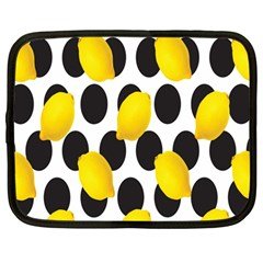 Orange Lime Fruit Yellow Hole Netbook Case (Large)