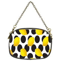 Orange Lime Fruit Yellow Hole Chain Purses (Two Sides)