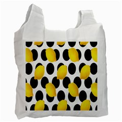 Orange Lime Fruit Yellow Hole Recycle Bag (One Side)
