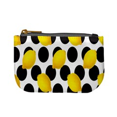 Orange Lime Fruit Yellow Hole Mini Coin Purses