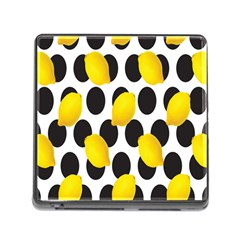 Orange Lime Fruit Yellow Hole Memory Card Reader (Square)