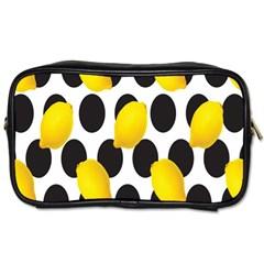 Orange Lime Fruit Yellow Hole Toiletries Bags