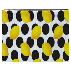 Orange Lime Fruit Yellow Hole Cosmetic Bag (XXXL)