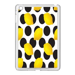 Orange Lime Fruit Yellow Hole Apple iPad Mini Case (White)
