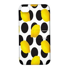 Orange Lime Fruit Yellow Hole Apple iPhone 4/4S Hardshell Case with Stand
