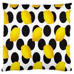Orange Lime Fruit Yellow Hole Large Flano Cushion Case (Two Sides)