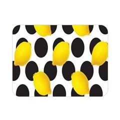 Orange Lime Fruit Yellow Hole Double Sided Flano Blanket (Mini)