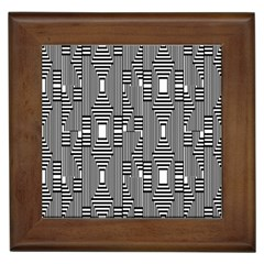 Line Hole Plaid Pattern Framed Tiles