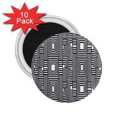 Line Hole Plaid Pattern 2.25  Magnets (10 pack)