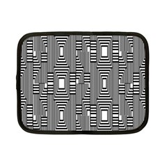Line Hole Plaid Pattern Netbook Case (Small)