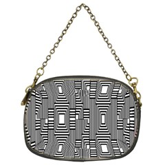 Line Hole Plaid Pattern Chain Purses (Two Sides)