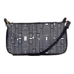 Line Hole Plaid Pattern Shoulder Clutch Bags