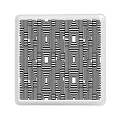 Line Hole Plaid Pattern Memory Card Reader (Square)
