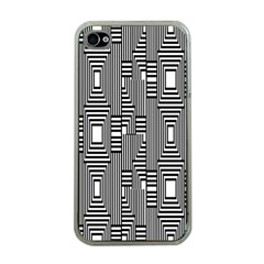 Line Hole Plaid Pattern Apple iPhone 4 Case (Clear)