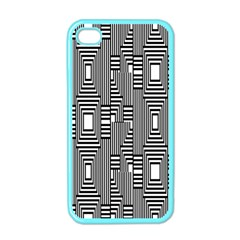 Line Hole Plaid Pattern Apple iPhone 4 Case (Color)