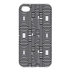 Line Hole Plaid Pattern Apple iPhone 4/4S Premium Hardshell Case