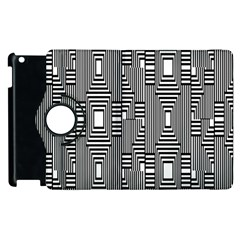Line Hole Plaid Pattern Apple iPad 2 Flip 360 Case