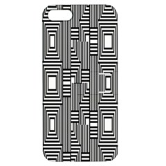 Line Hole Plaid Pattern Apple iPhone 5 Hardshell Case with Stand
