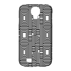 Line Hole Plaid Pattern Samsung Galaxy S4 Classic Hardshell Case (PC+Silicone)