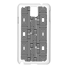 Line Hole Plaid Pattern Samsung Galaxy Note 3 N9005 Case (White)
